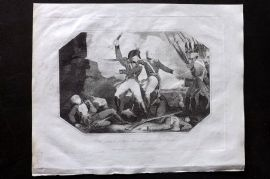 Lyttleton 1811 Antique Print. Attack of Morne Fortune in the Island of St. Lucia